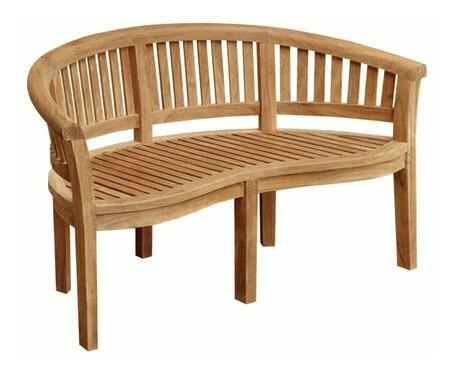 Serenity Collection DN-3603 63″ Bench with Teak Construction  Stainless Steel and Brass Hardware  Mortise and Tenon Joinery in Honey