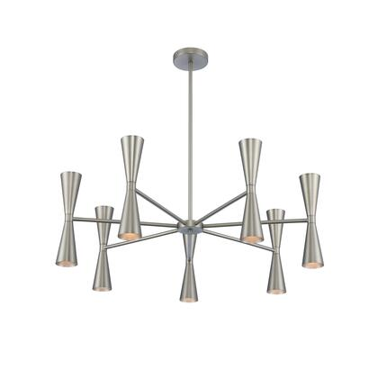 Milo 310471SN 7 Arm Chandelier with 14-Lights in Satin