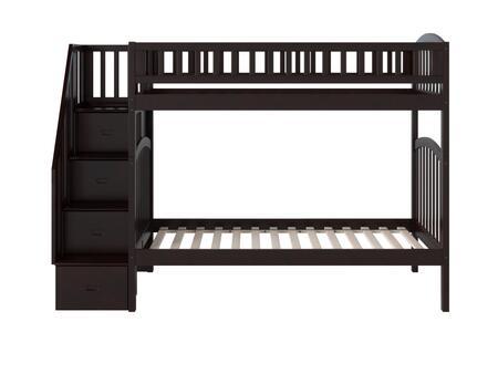 Atlantic Furniture Westbrook AB65601 Bed Brown, AB65601 SILO SK 180