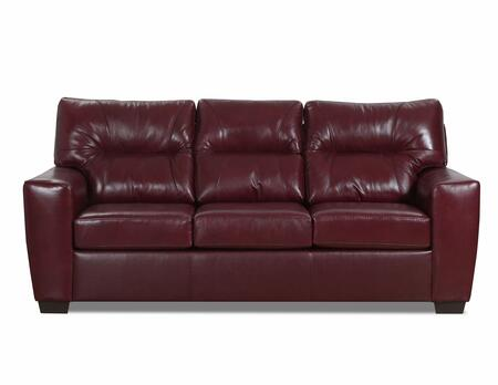 Lavish Collection 2043-03SOFTTOUCHCRIMSON 88″ Sofa with Removable Seat Cushions  Track Arms  Made in USA  Hardwood Lumber Construction and Top Grain
