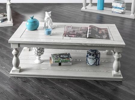 Furniture of America Arlington CM4520C Coffee and Cocktail Table White, Main Image