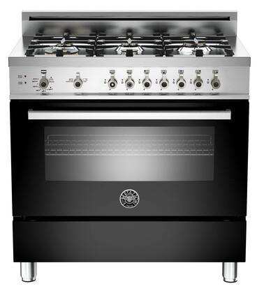 Bertazzoni Professional PRO366GASNE Freestanding Gas Range Black, 1