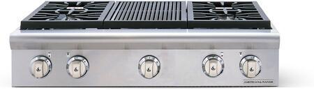 American Range Cuisine ARSCT364GRN Gas Cooktop Stainless Steel, 1