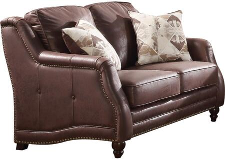 Acme Furniture Nickolas 52066 Loveseat Brown, 1
