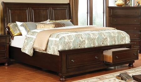 Furniture of America Castor CM7590CHXBED Bed Brown, 1