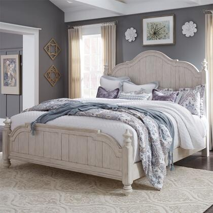 Liberty Furniture Farmhouse Reimagined 652BRQPS Bed White, 652 br qps 8 (1)