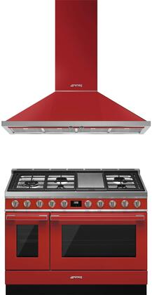 Smeg  974015 Kitchen Appliance Package Red, 1