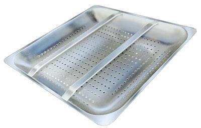 Advance Tabco  DTA69X Commercial Dish Washing Accessory Stainless Steel, Pre-Rinse Basket with Welded Slide Bar