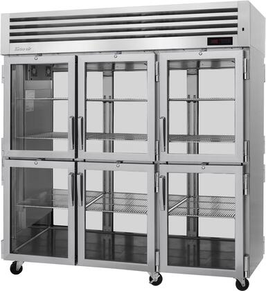 PRO-77-6H-G-PT 78″ Pro Series Glass Half Door Pass-Thru Heated Cabinet with 73.9 cu. ft. Capacity  Digital Temperature Control & Monitor System