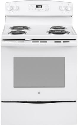 "GE JB258DMWW 30"" Freestanding Electric Range with 4 Coil Elements 5.3 cu. ft. Oven"