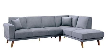 Furniture of America Hagen CM6799GYSECTIONAL Sectional Sofa Gray, Main Image
