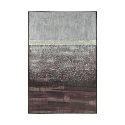 1219-060 Layered Abstract Wall Decor  In Brown And