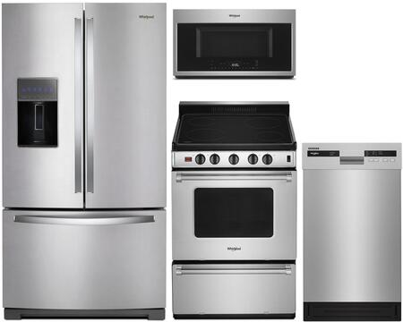 Whirlpool  1009989 Kitchen Appliance Package Stainless Steel, main image