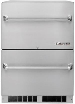 Twin Eagles  TERD242F Drawer Refrigerator Stainless Steel, Main Image