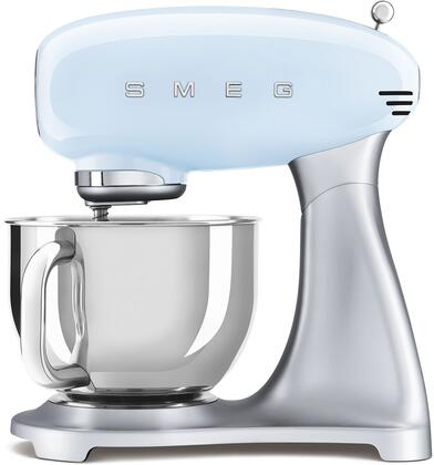 SMF02PBUS 16″ 50's Retro Style Aesthetic Stand Mixer with Stainless Steel Bowl  Lever Control and 600 Watts Motor in Pastel