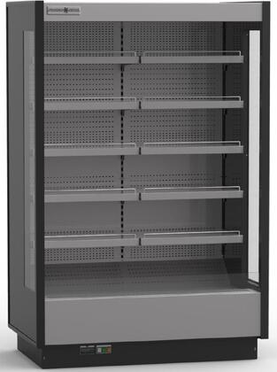 KGV-MO-2-R 52″ High Volume Open Grab-N-Go Case with 35.66 cu. ft. Capacity  LED Lighting and Height Adjustable Shelves in
