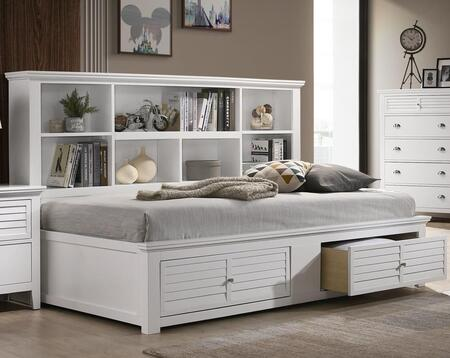 Myco Furniture Bessey Collection Full Size Day Bed With Bookshelf