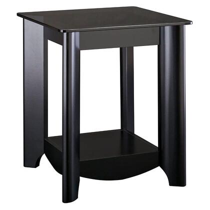 Bush Furniture Aero MY1692203 End Table Black, Main Image