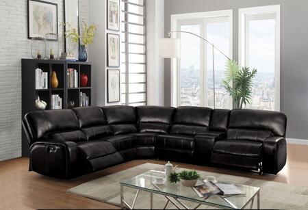 Acme Furniture Saul 54150 Sectional Sofa Black, Main Image