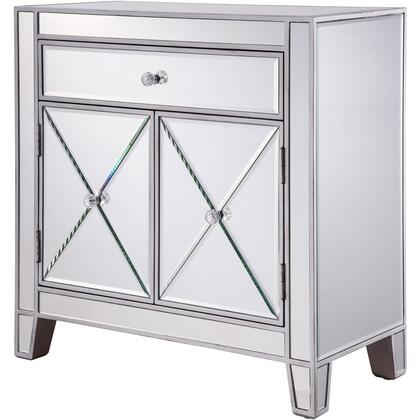 MF6-1034 1 Drawer 2 Doors Cabinet 28″ X 13-1/4″ X 28-1/4″ In Silver