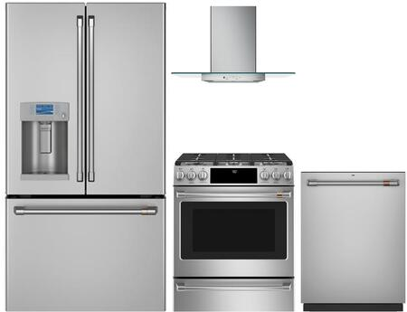 Cafe  1066851 Kitchen Appliance Package Stainless Steel, main image