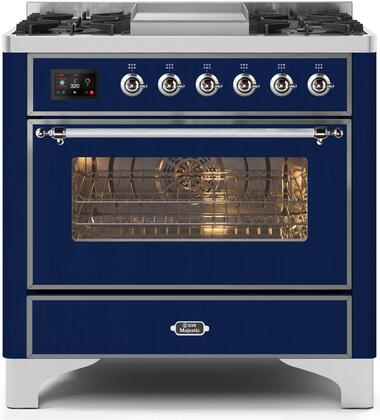 UM09FDNS3MBC 36″ Majestic II Series Dual Fuel Natural Gas Range with 6 Burners and Griddle  3.5 cu. ft. Oven Capacity  TFT Oven Control Display