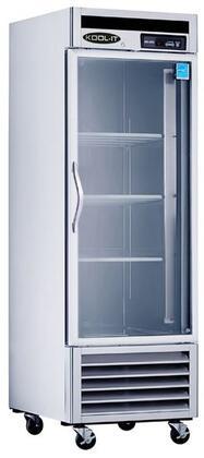 KBSR-1G 27″ Glass Door Refrigerator with 21 cu. ft. Capacity  Bottom Mount Compressor  LED Interior Lighting and Open Door Alert in Stainless
