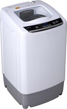 DWM030WDB-6 18″ Top Load Compact Washer with 0.9 cu. ft. Capacity  5 Cycles and Delay Start in