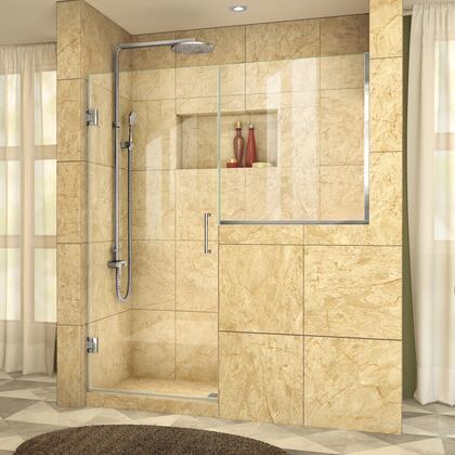 DreamLine  SHDR2429303601 Shower Door , UnidoorPlus Shower Door 39 30D 30BP 01