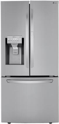 LRFDS2503S 33″ Smart French Door Refrigerator with 24.5 cu. ft. Total Capacity  Door-in-Door with ColdSaver Panel  DoorCooling+  SmartDiagnosis
