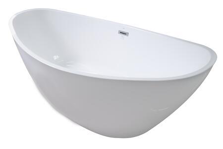Valley Acrylic Affordable Luxury CHARMVA6807BFSWHT Bath Tub White, Main Image