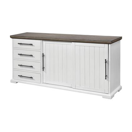 17220 Locksmith Sliding Door Credenza  in Off-white