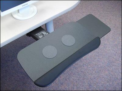Polymer Collection PSPLFE21T Keyboard Platform with Slide-Through Mouse Tray  Gel Palm Rest and Anti-Skid Grip