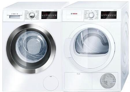 Bosch 800 Series 964056 Washer & Dryer Set White, Main Image