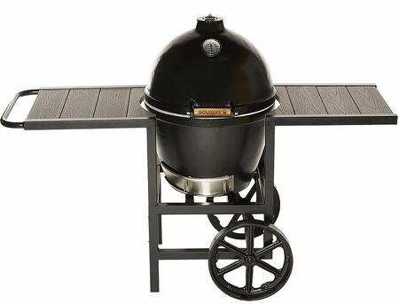 Goldens Cast Iron GCG135470 Charcoal Grill Black, GCG135470 Cast Iron Cooker with Cart