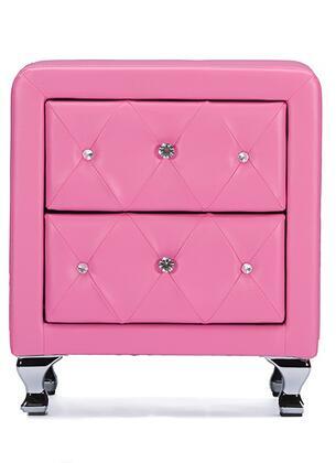 Wholesale Interiors Stella BBT3084PINKNS Nightstand Pink, BBT3084PINKNS