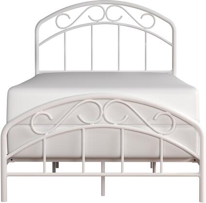 Jolie Collection 2586-330 Metal Twin Bed with Arched Scroll Design and welded construction in