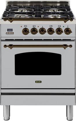 Ilve Nostalgie UPN60DMPIY Freestanding Dual Fuel Range Stainless Steel, 1