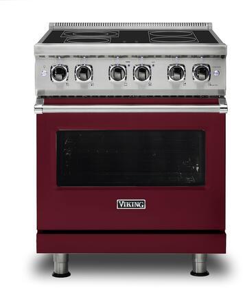 Viking Professional 5 VER5304BBU Freestanding Electric Range Red, Front view