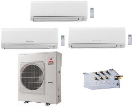 Mitsubishi M Series 864912 Triple-Zone Mini Split Air Conditioner White, 1