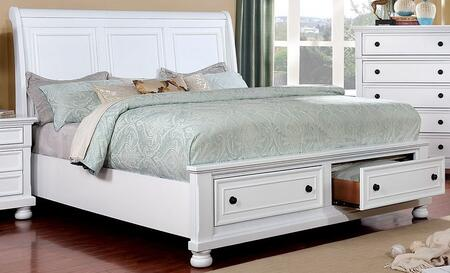 Furniture of America Castor CM7590WHXBED Bed White, 1