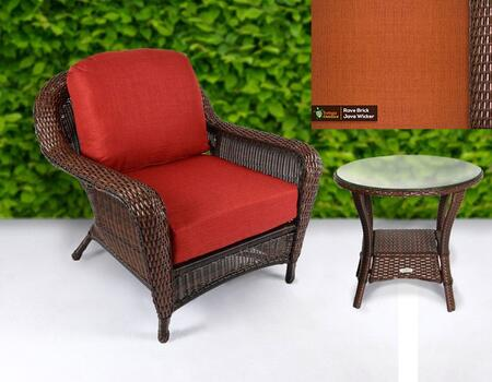 Tortuga Sea Pines LEXCT1JRAVEB Outdoor Patio Set Brown, LEXCT1JRAVEB Main Image