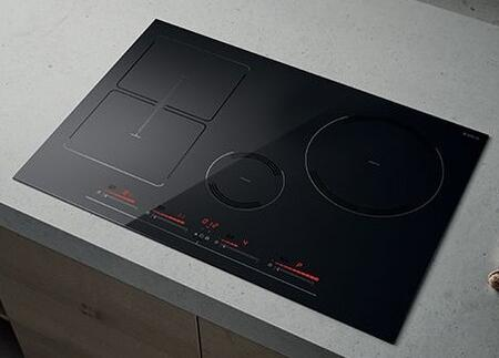 Elica Air Cooking EGL430BL Induction Cooktop Black, EGL330BL Angled View