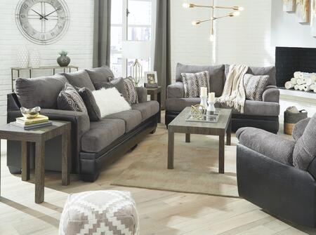 Signature Design by Ashley Millingar 78202393SET Living Room Set Gray, Living Room Set