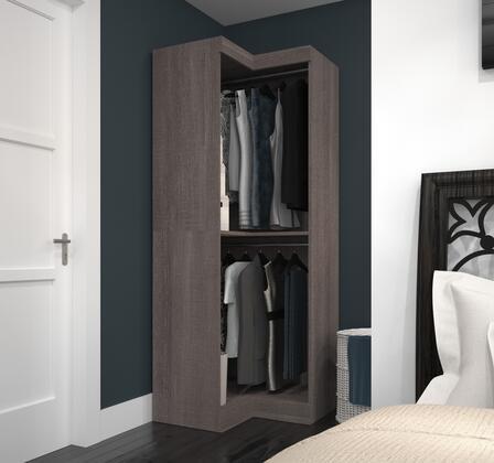 Bestar Furniture 2616547 Cabinet, bestar pur murphy bed bark grey 26165 47 room