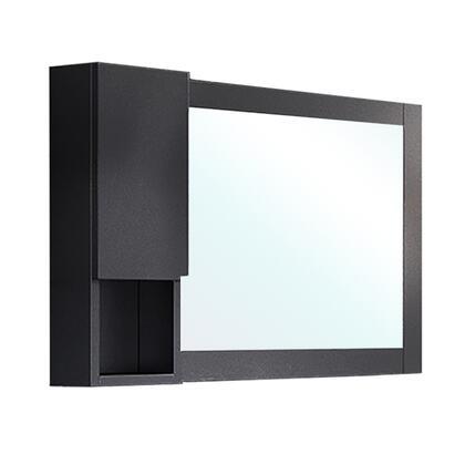 203129-MC-BL Mirror Cabinet-Wood-Black-Left