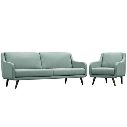 Modway Verve EEI2447LAGSET Living Room Set Blue, EEI 2447 LAG SET 1