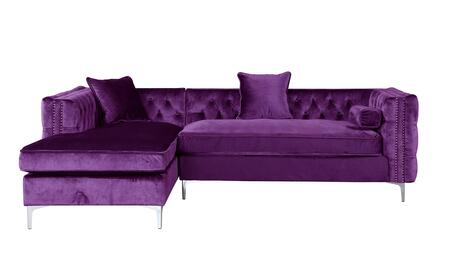 Chic Home Bosch FSA2584AC Sectional Sofa Purple, FSA2584-AC-Main Image