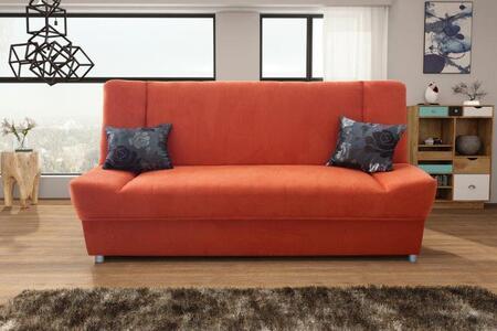 Natalia Collection NATALIAORANGE Sofa Bed in Orange