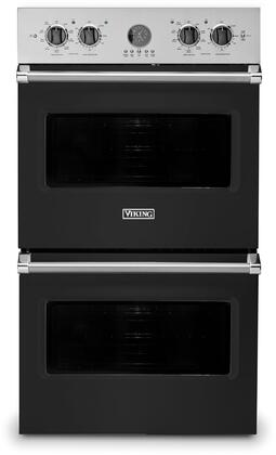 Viking 5 Series VDOE530BK Double Wall Oven Black, Main Image
